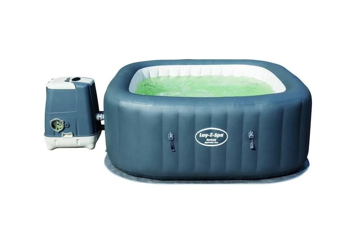 Spa Extérieur 2 Places Jacuzzi Gonflable Carré Hawaii Hydrojet Pro 4 à 6 Places