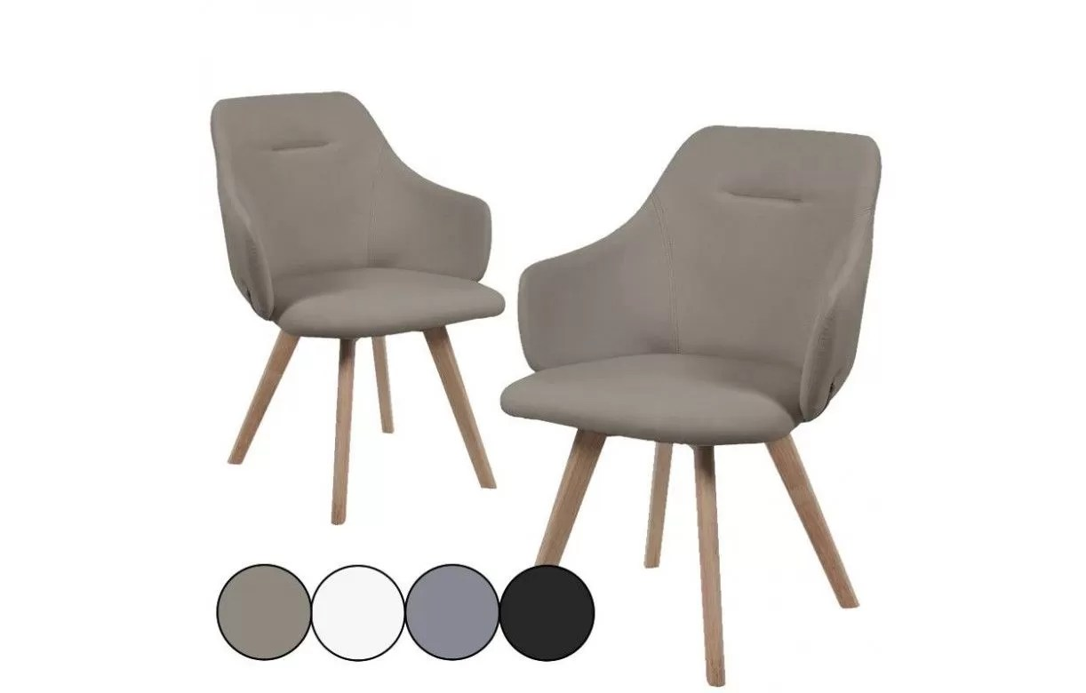 Chaise Design Avec Accoudoir Chaise Avec Accoudoirs Style Scandinave Set De 2