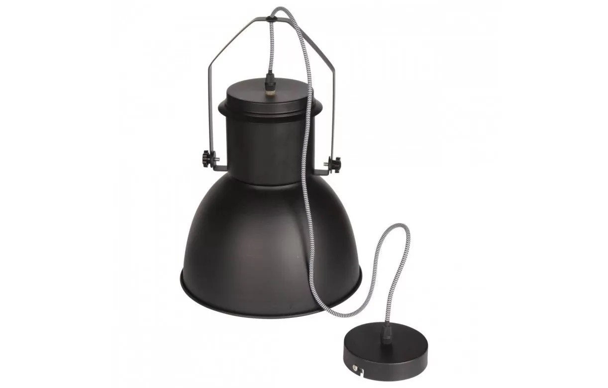Lampe Suspension Style Industriel Suspension Style Industriel En Métal Noir Gris Ou Blanc