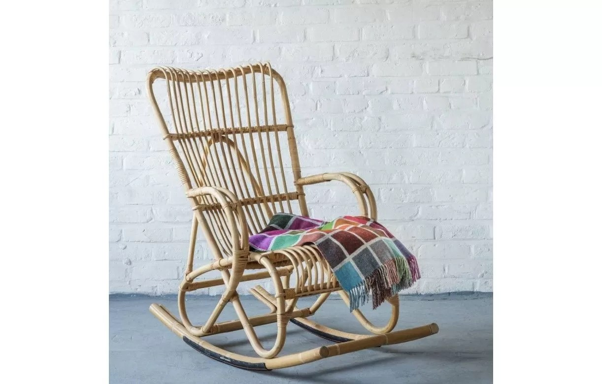 Fauteuils Marly Fauteuil Rocking Chair En Rotin Naturel Marly