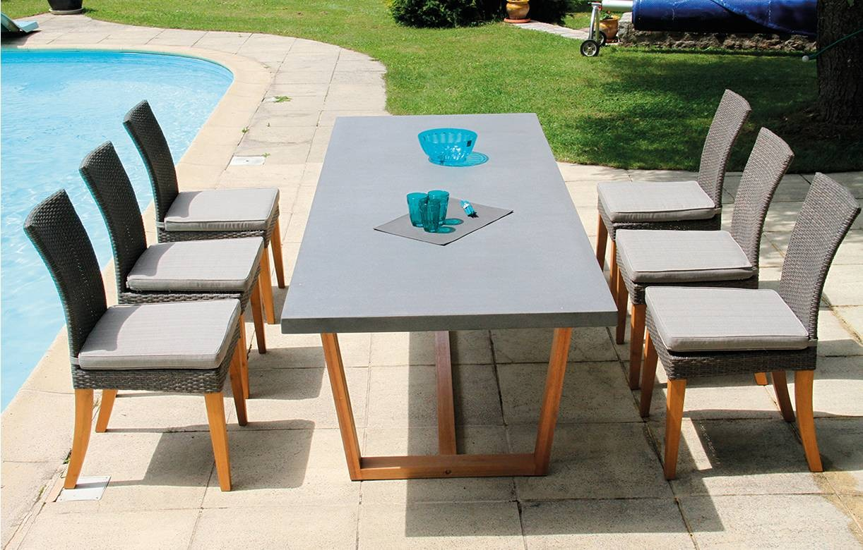 Table De Jardin En Beton | Housse De Protection Pour Tables