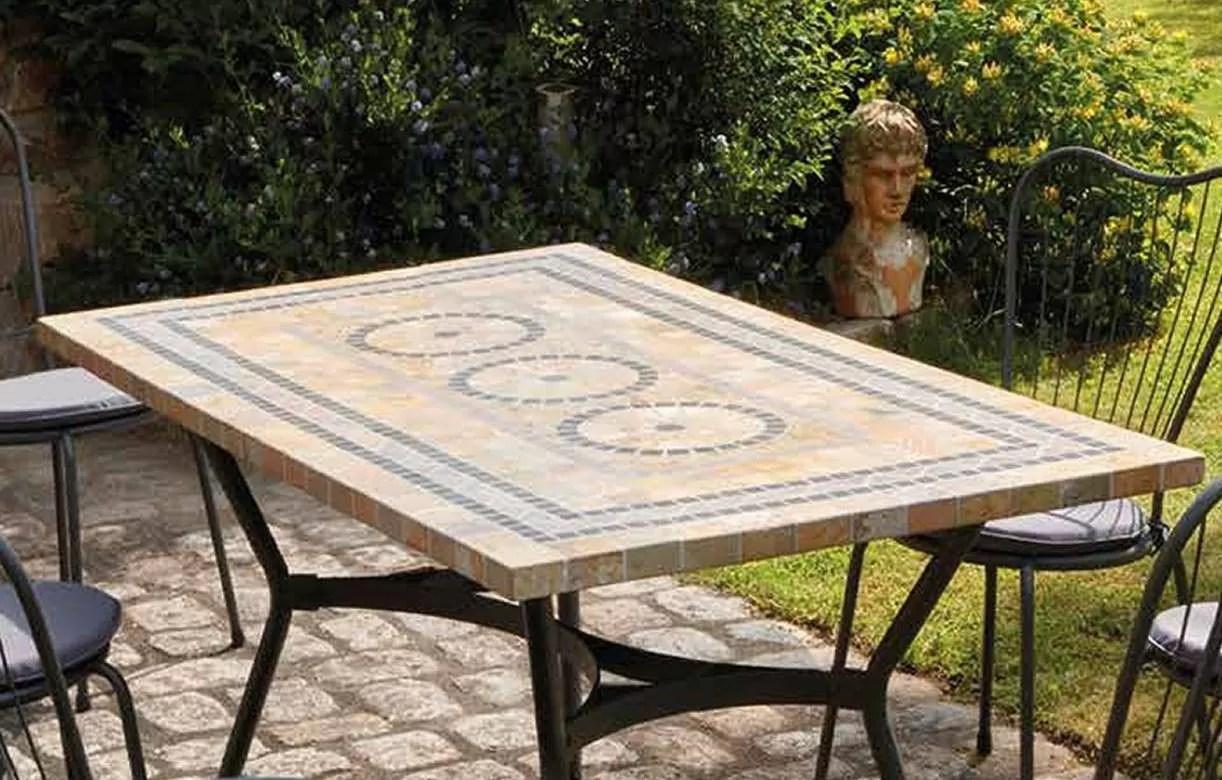 Table De Jardin Mosaique Ronde