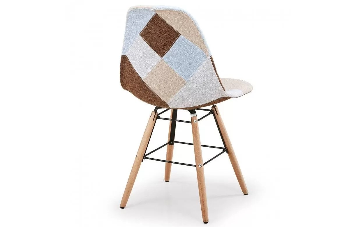 Chaise Multicolore Chaises Scandinave Patchwork Fauteuil Scandinave Patchwork Pas Cher