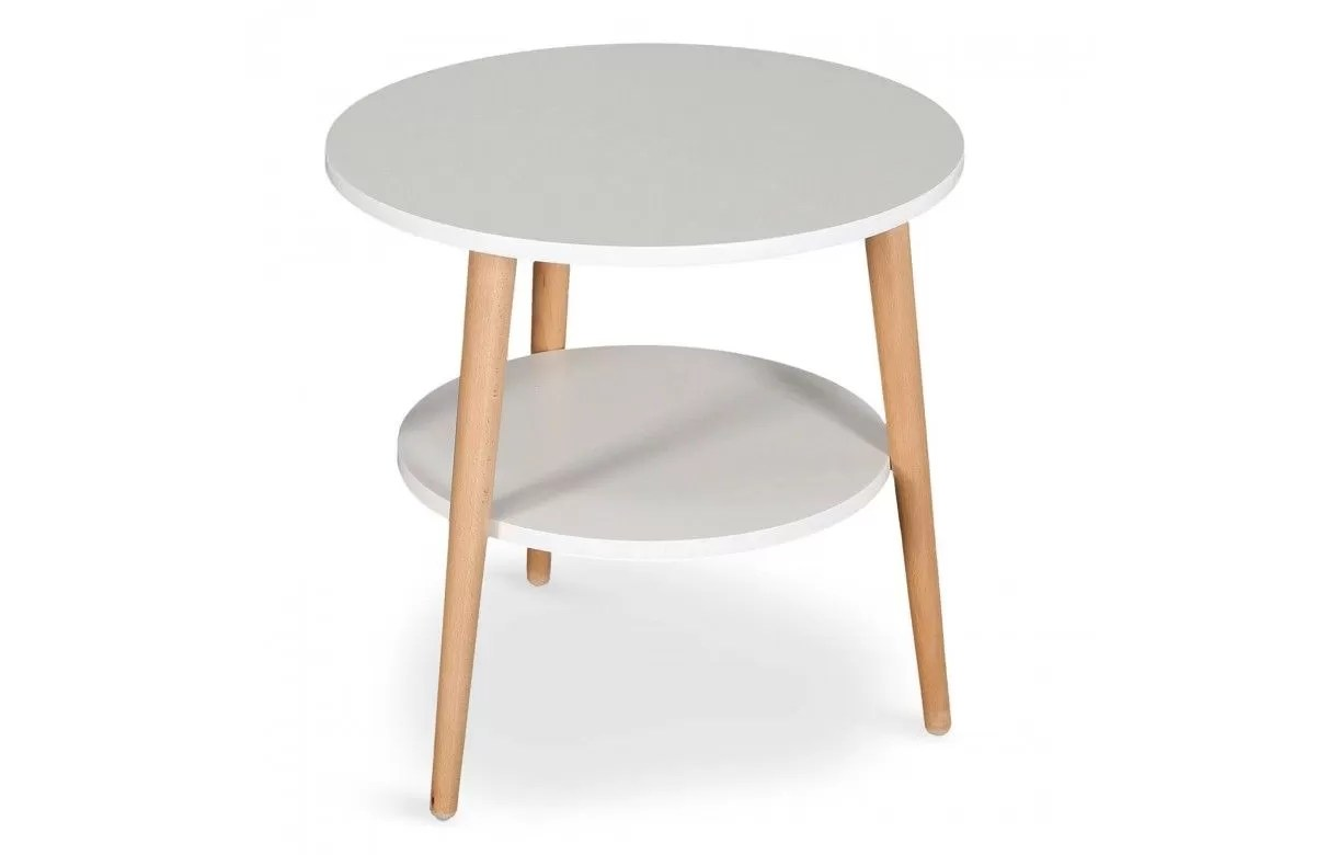 Table Basse Blanche Scandinave Table Basse Scandinave Ronde Double Plateau