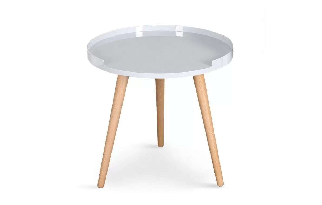 Table Basse Ronde Avec 4 Tabourets Table Basse Ronde Avec Rebords Scandinave