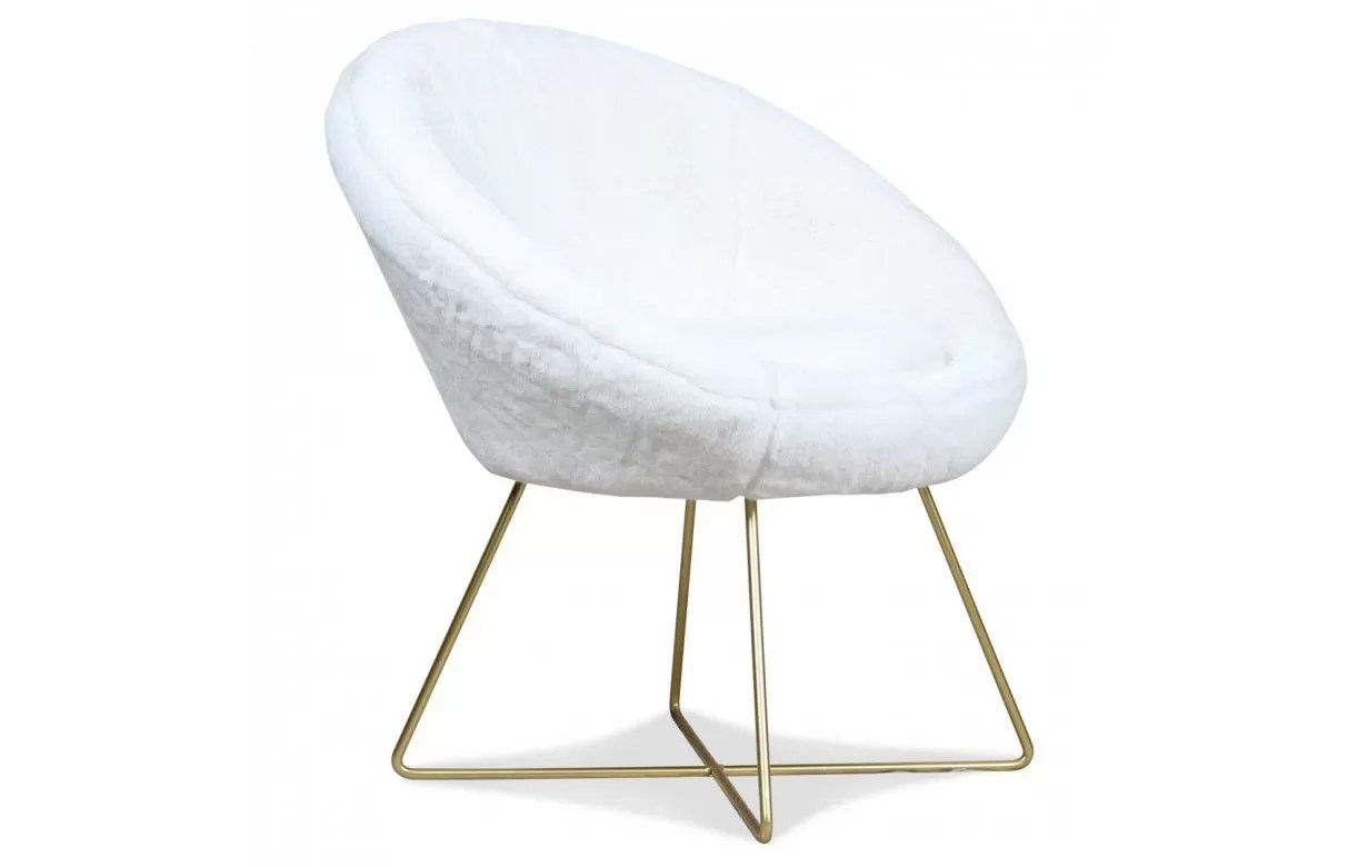 Loveuse Ikea Fauteuil Loveuse Blanc Ultra Doux Fourrure Cocooning Lilie