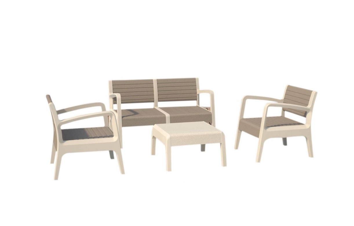 Salon De Jardin Taupe Salon De Jardin Design Blanc Et Taupe 4 Places Decome Store