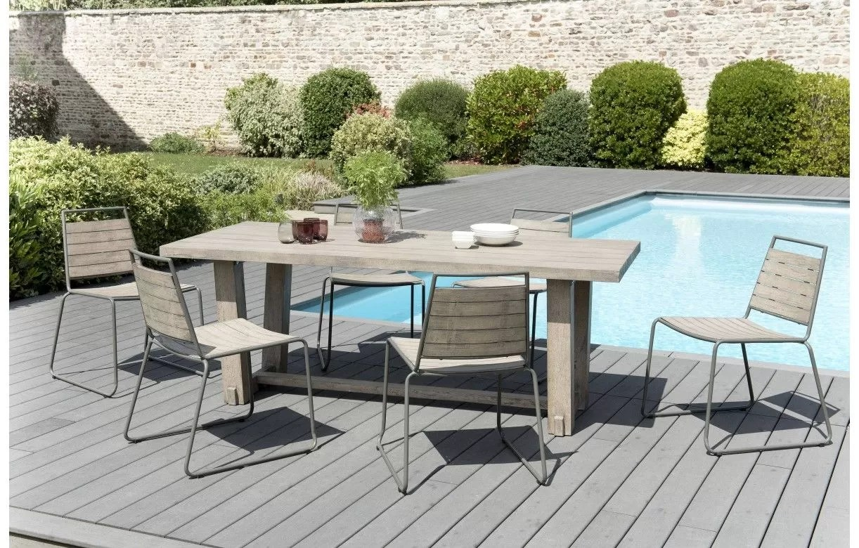Ensemble Table Exterieur Ensemble Table Originale 6 Chaises Bois Massif Bursa