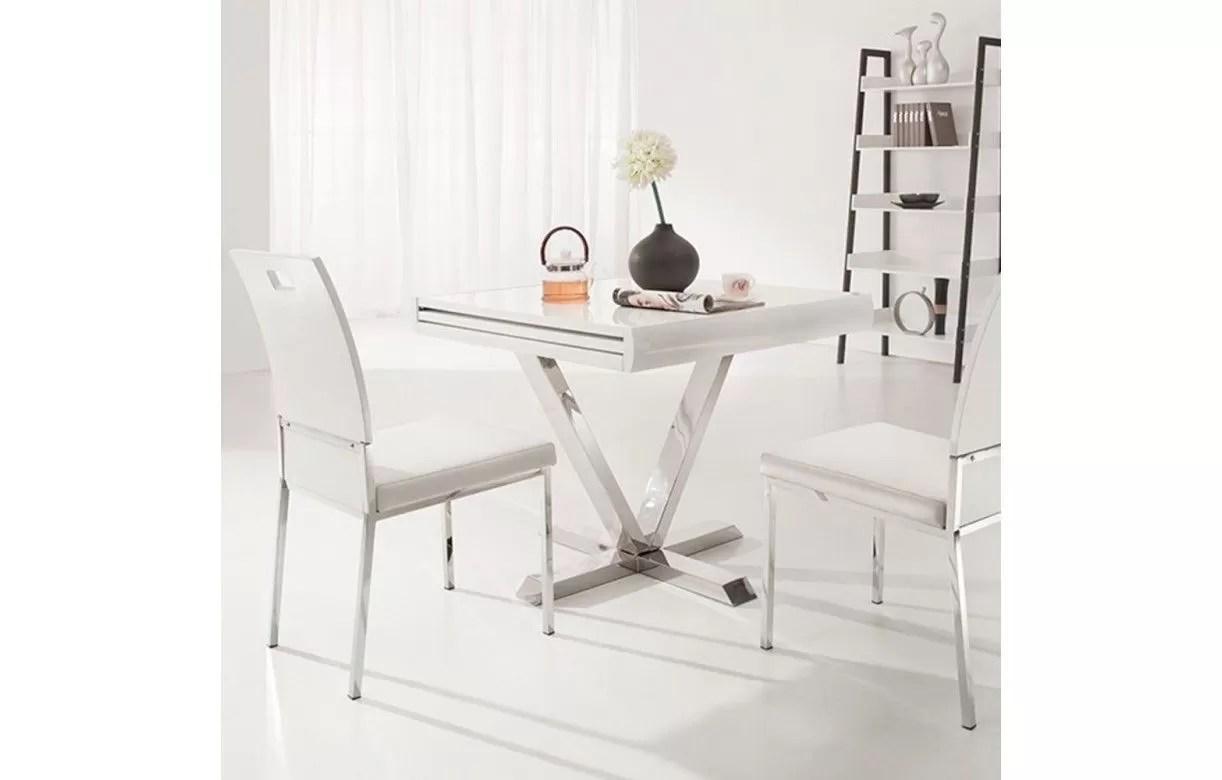Table De Jardin Blanche Avec Rallonge | Table De Jardin Ovale Avec ...