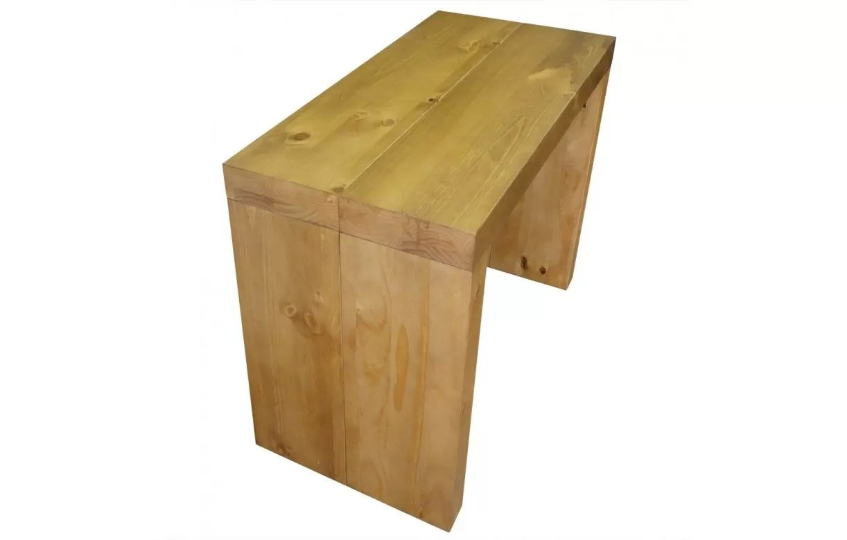 Table Basse Console Table Console Extensible En Bois Massif 10 Couverts Woodini 5