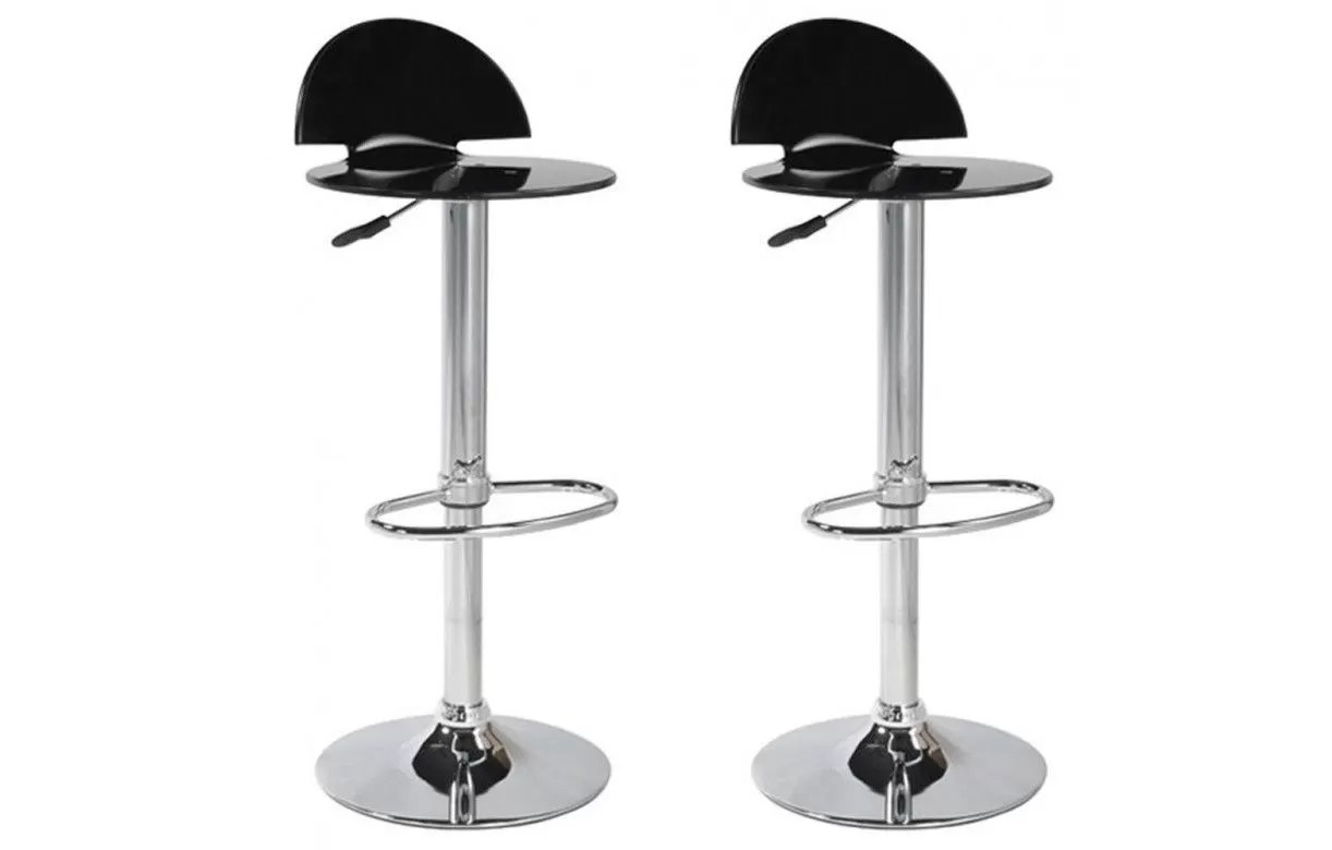 Set De 1 Table Bar Et 4 Tabourets Noir Tabouret De Bar Acrylique Design Fan 5 Coloris Set De 2