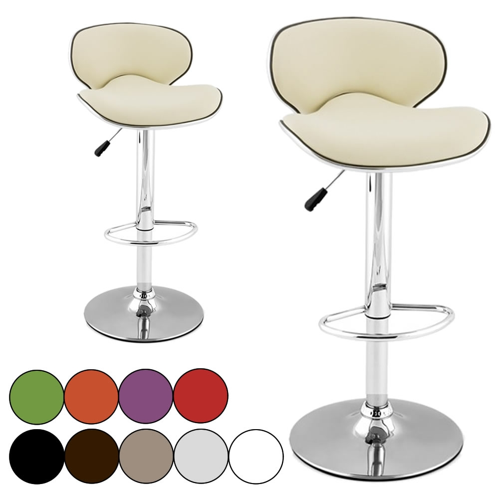 2 Tabourets Wave Tabouret De Bar En Simili Cuir Design Set De 2