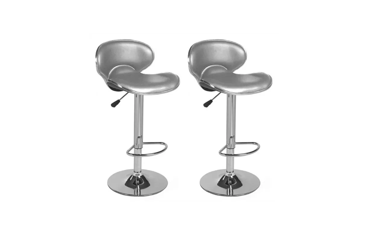 Songmics Lot De 2 Tabourets De Bar Stool Tabouret De Bar En Simili Cuir Design Set De 2