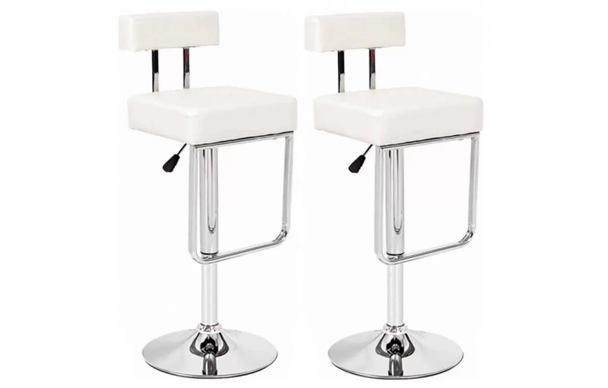 Charly Lot De 2 Tabourets De Bar Blancs Lot De 2 Tabourets De Bar Simili Cuir Taupe Noir Blanc