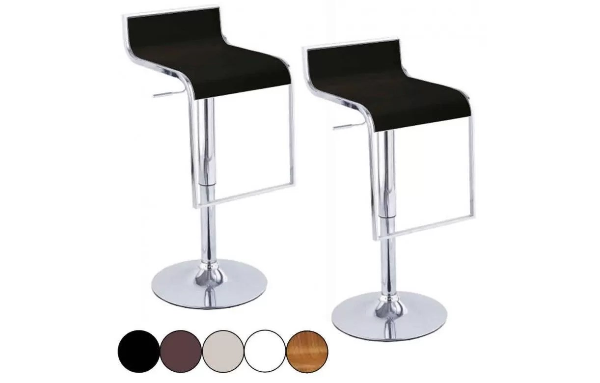 Set De 1 Table Bar Et 4 Tabourets Noir Set De 2 Tabourets De Bar Noir Design Chrome Et Simili