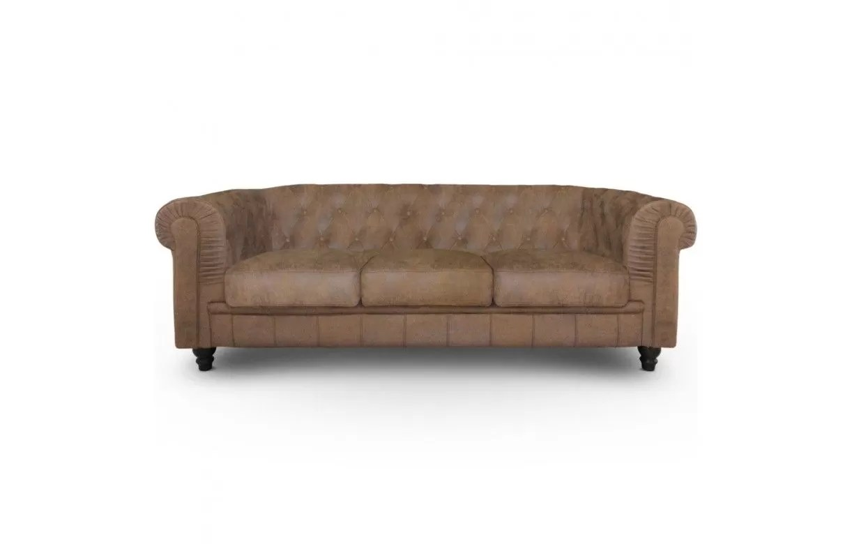 Canapé 3 Places Vintage Canapé 3 Places Vintage Capitonné Chesterfield