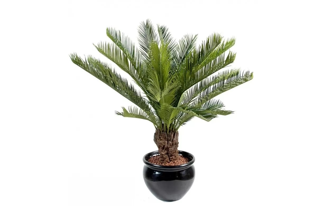 Store Interieur Electrique Plante Artificielle Tropicale Palmier Cycas 90 Cm - Decome