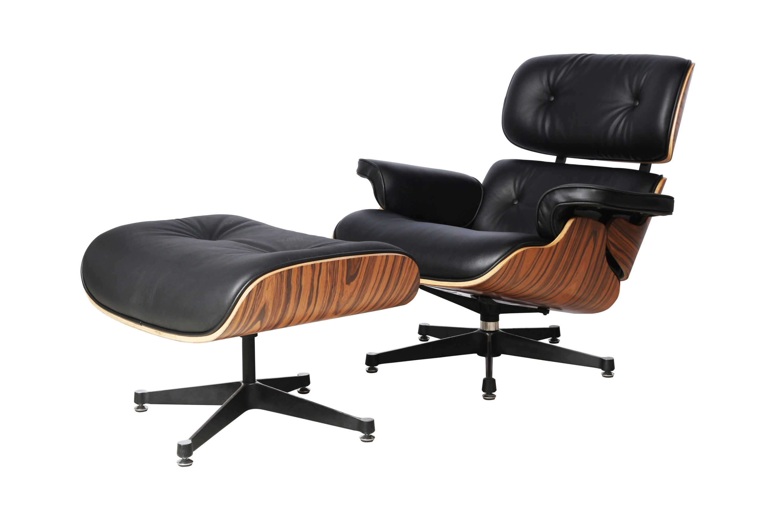 Charles Eames Lounge Chair Charles Eames Lounge Chair And Ottoman Replica - Black - Light Wood Rose Wood - Elephant Base - Decomica - As A Brand Known For Quality And Excellent Service