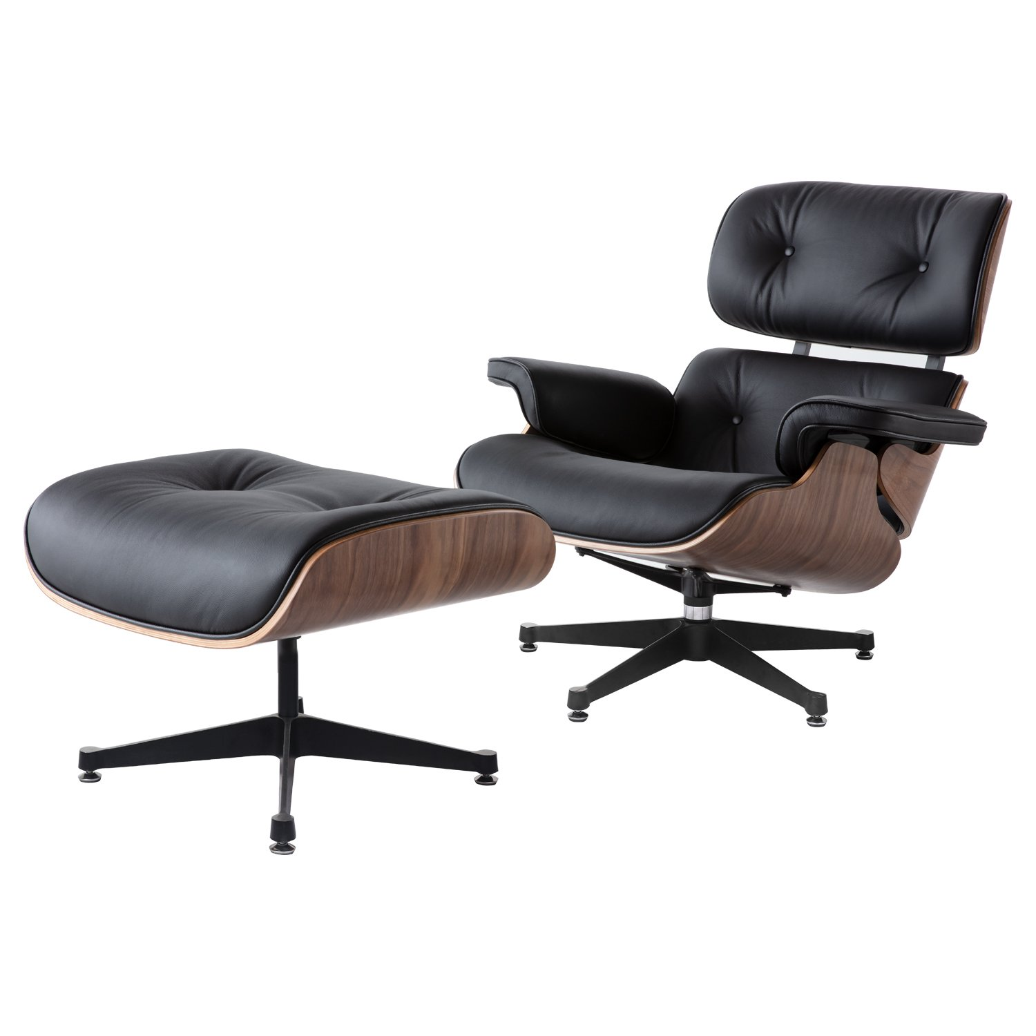 Charles Eames Lounge Chair Charles Eames Lounge Chair And Ottoman Replica - Black - Walnut Wood - Elephant Base - Decomica - As A Brand Known For Quality And Excellent Service