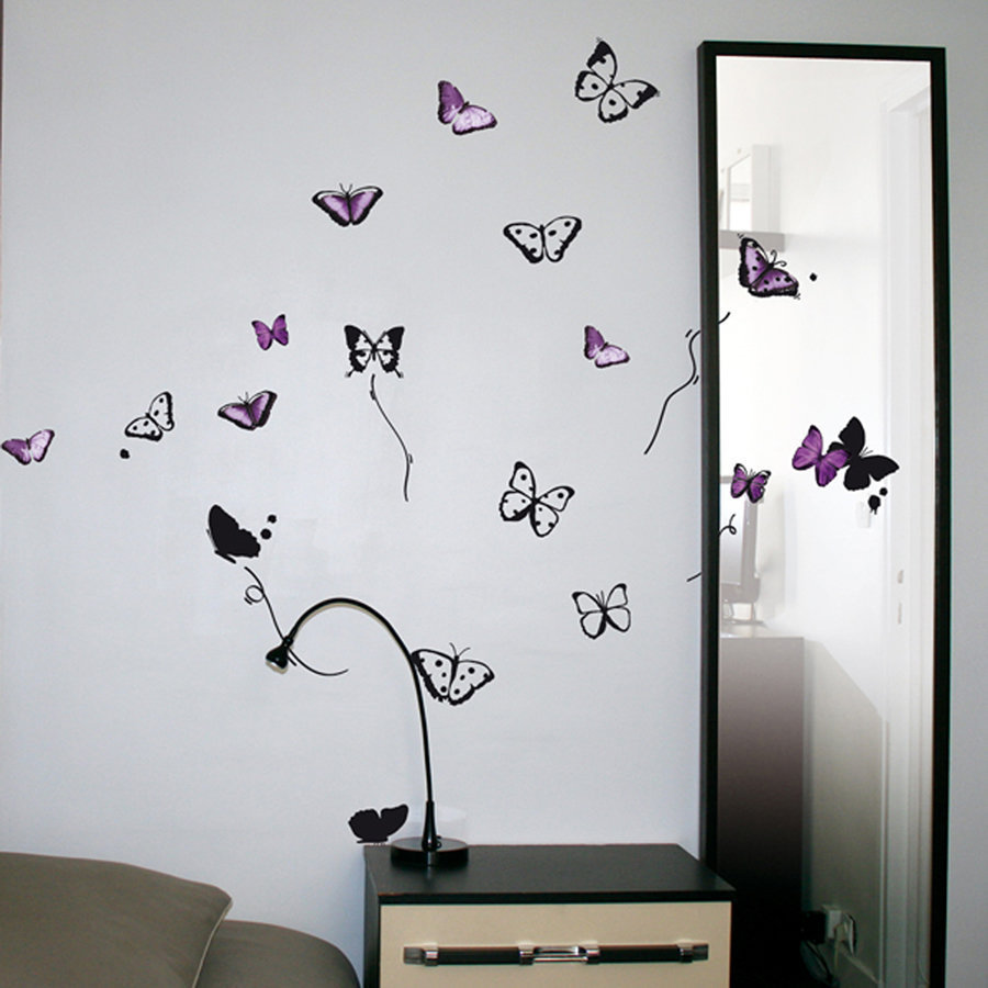 Stickers Papillon Chambre Fille Stickers Muraux Papillons
