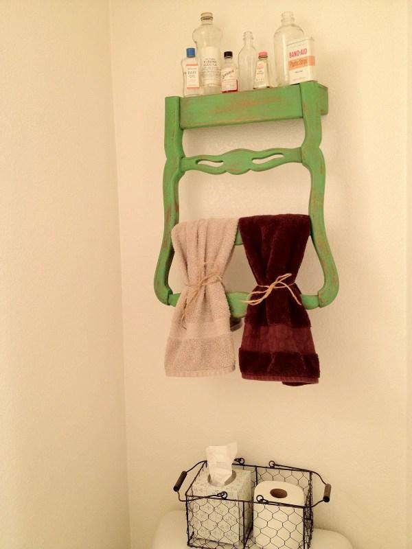 Transformer une chaise en porte serviettes d conome for Chaise porte serviette