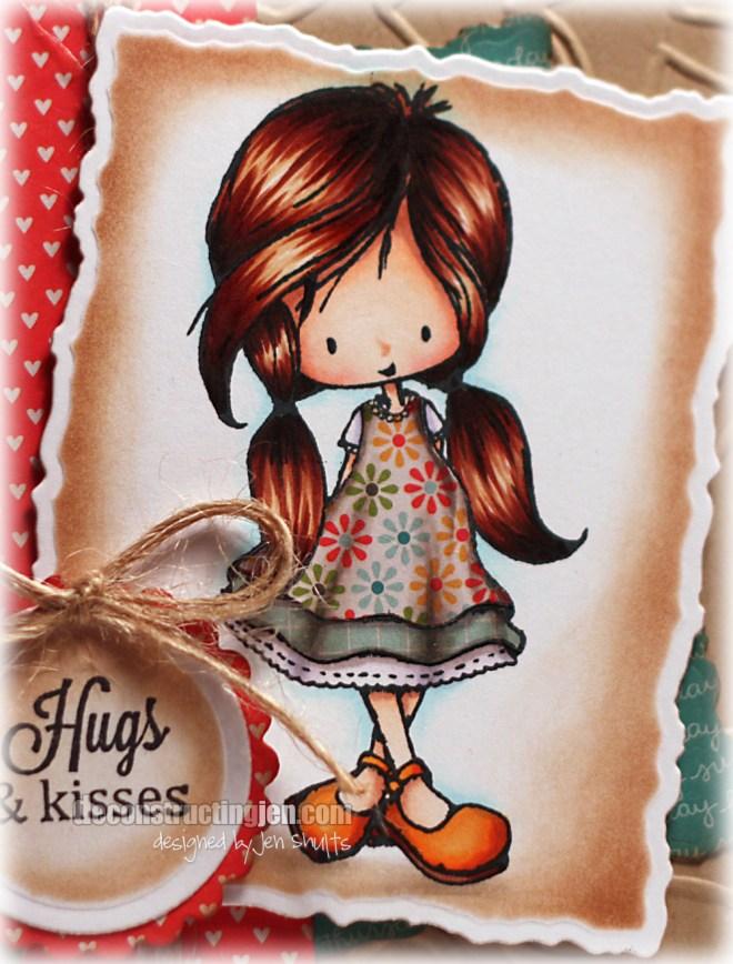 Hugs and Kisses, handmade card by Jen Shults