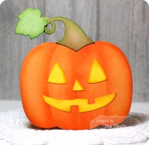 Jack o'Lantern card by Jen Shults, dies from Taylored Expressions