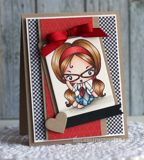 Geek Chic by Jen Shults, DS204 stamps from The Greeting Farm