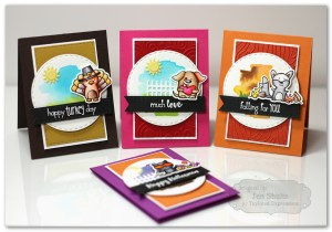 Calendar Critter Mini Cards by Jen Shults