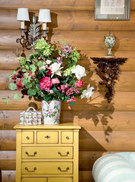 Wood Table Top Russian Interior Decorating Style, Vintage Decor Ideas For
