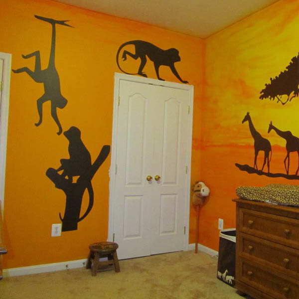 Black And White Wallpaper Bedroom Ideas African Decorating Ideas For Kids Rooms 3 Interior Color