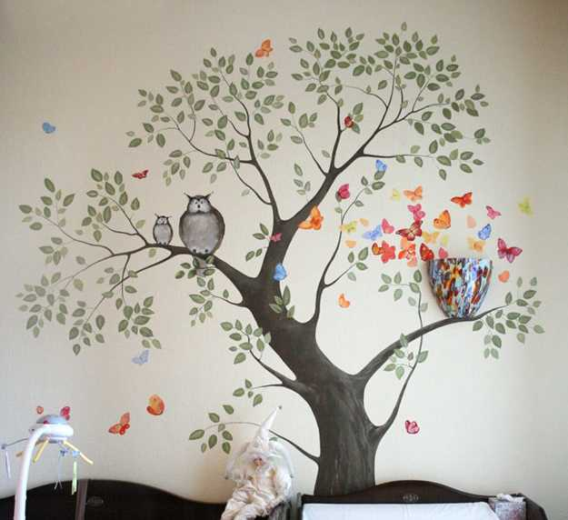 Wallpaper Ideas For Baby Girl Nursery 24 Modern Interior Decorating Ideas Incorporating Tree