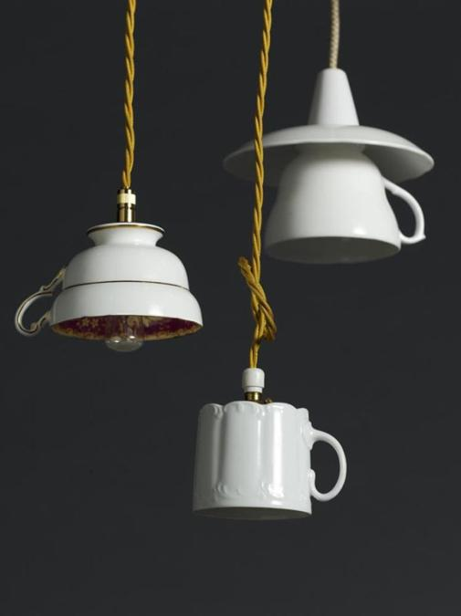 Verlichting Made Recycling Tea Cups And Tea Pots For Creative Home