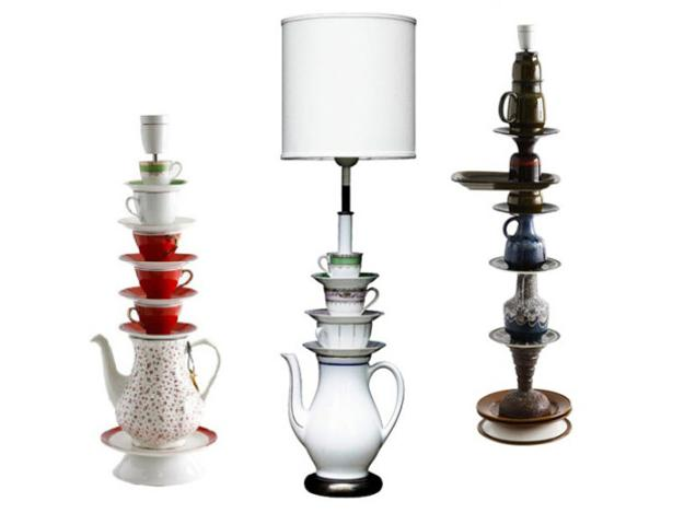 Living Room Color Schemes Recycling Tea Cups And Tea Pots For Creative Home