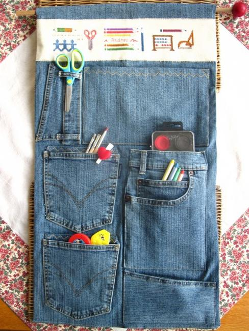 Wall Mirror Cheap 15 Craft Ideas To Recycle Jeans For Functional Furniture