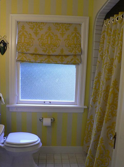Black Bathroom Roman Shades For Modern Kitchens And Bathroom Decorating
