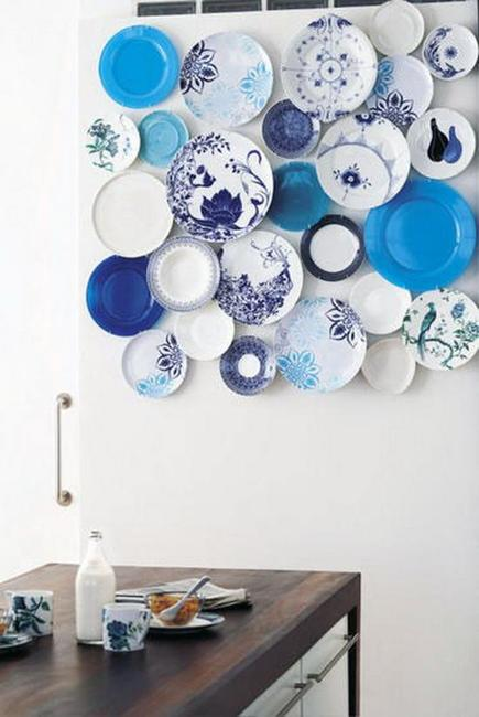 Modern Round Dining Table 21 Modern Wall Decor Ideas Using Decorative Plates