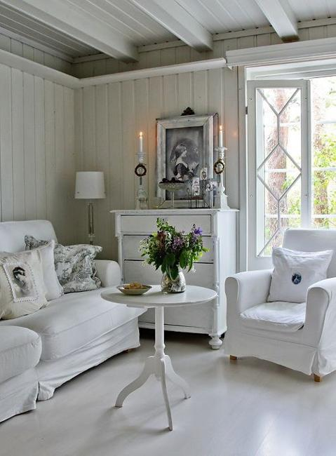 Coloré Pour Salon Beautiful Flowers And Shabby Chic Ideas For White Living