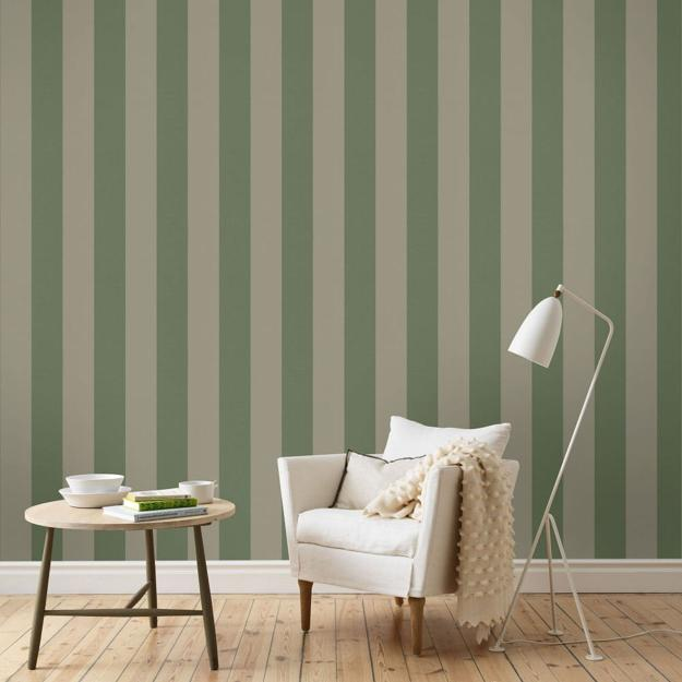 Green Black And White Striped Wallpaper Modern Wallpaper Patterns To Make Interior Decorating