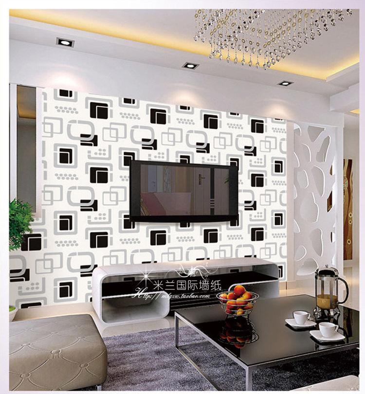Black And White Wallpaper Living Room Papel De Parede Para A Sala