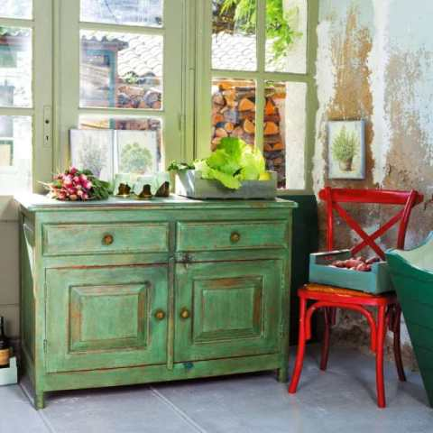 decoracion-retro-vintage-verde