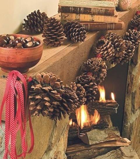 guirnalda para adornar chimeneas