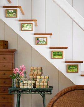 simple-idea-decoracion-escalera-cuadros
