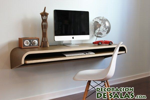 Muebles De Tv Originales Escritorios Originales Anclados A La Pared | DecoraciÓn De