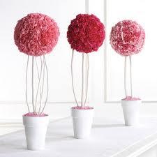 esferas con rosas de papel