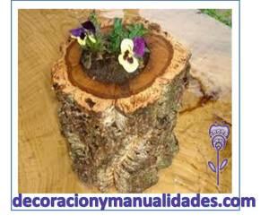 decoracion de jardin con naturaleza muerta y viva