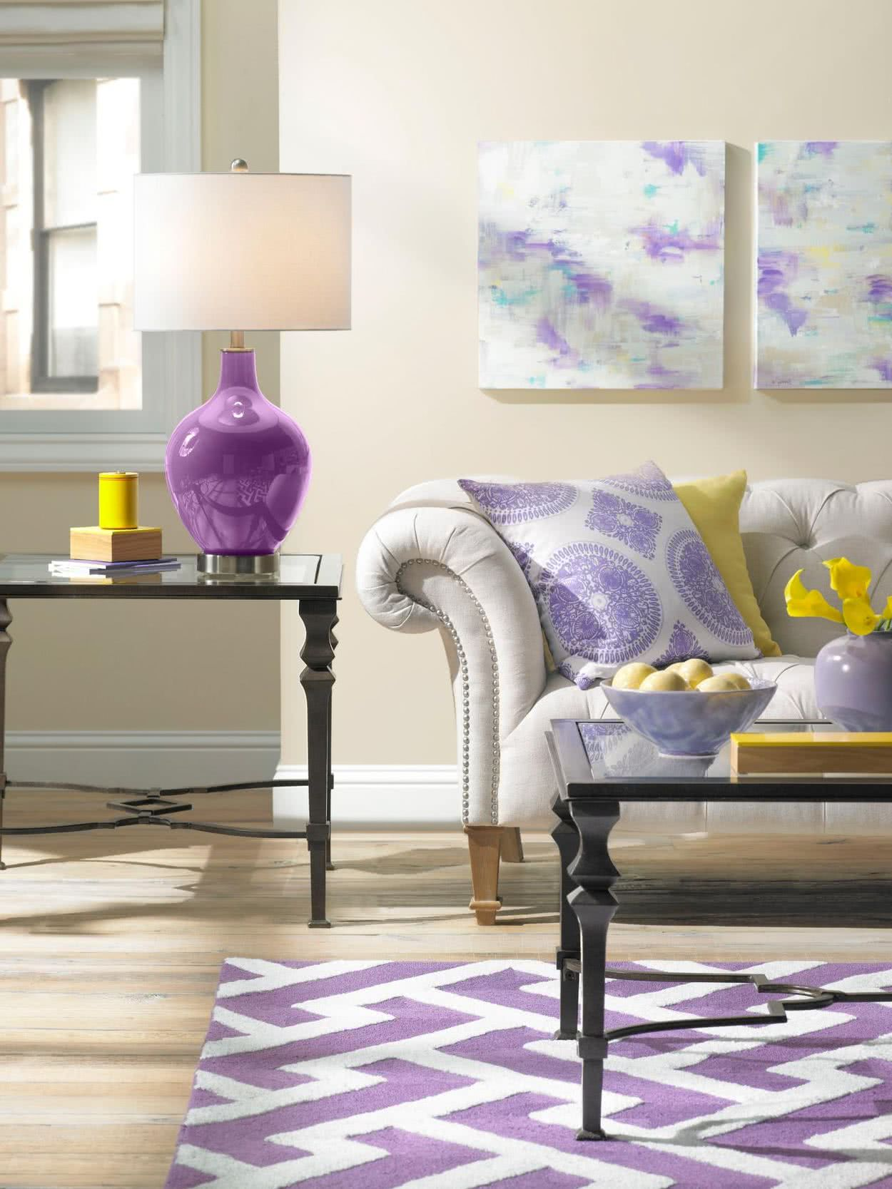 Color De Salones Color Morado Para Decorar Salones Dormitorios Y
