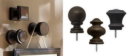 Pottery Barn finial knock off