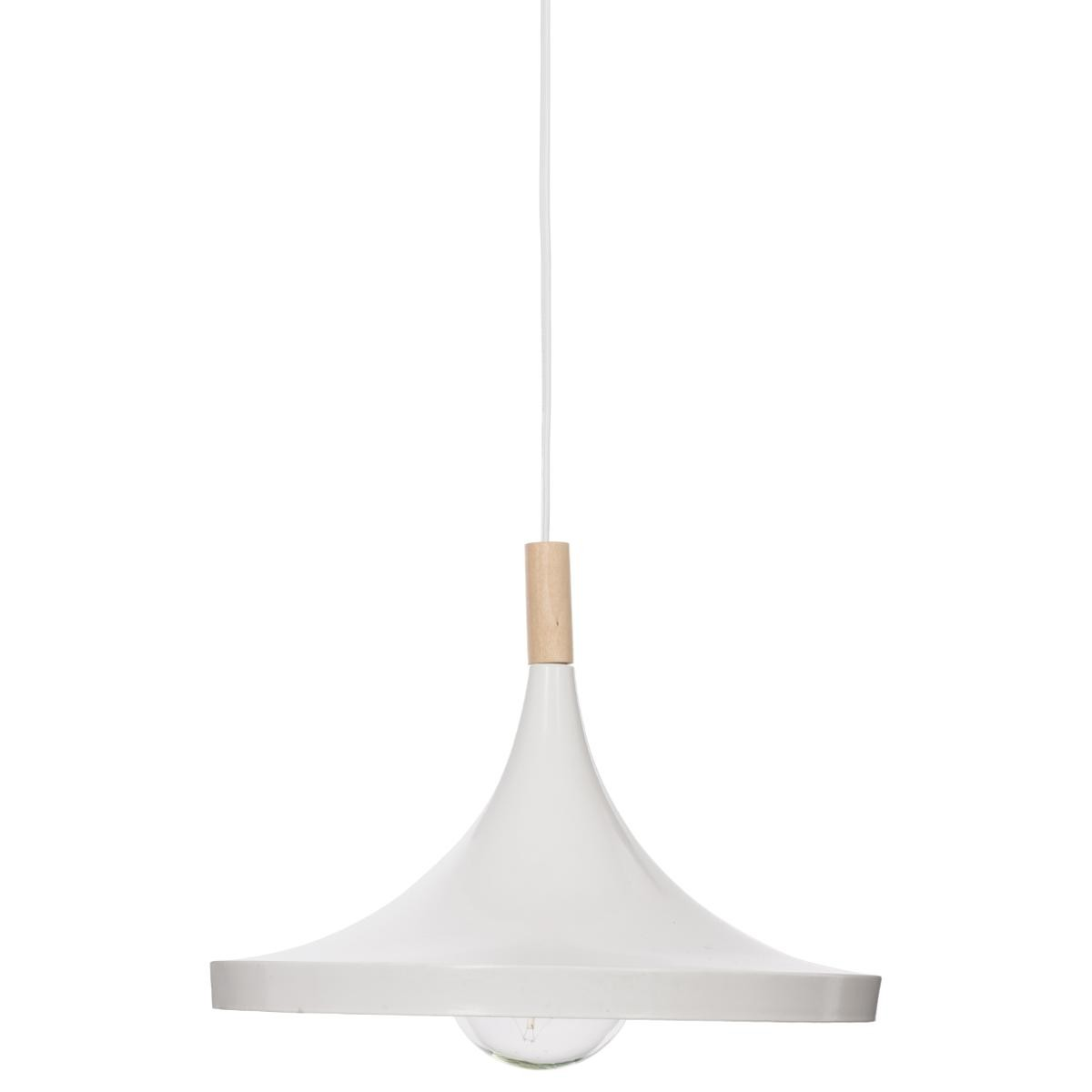 Suspension Blanche Suspension Blanche Bois Métal Ø32cm