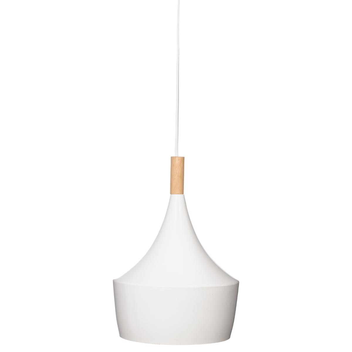 Suspension Blanche Suspension Blanche Bois Métal Ø20cm